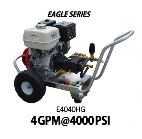 Hidrolavadora a Gasolina Agua Fria Motor Honda 4000 PSI Bomba GENERAL PUMP de uso Comercial REF-E4040HG