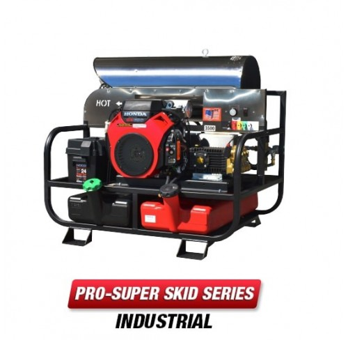 Hidrolavadora Industrial para Agua Caliente de 3500 PSI Bomba HIGH PERFORMANCE 8012PRO-35HG