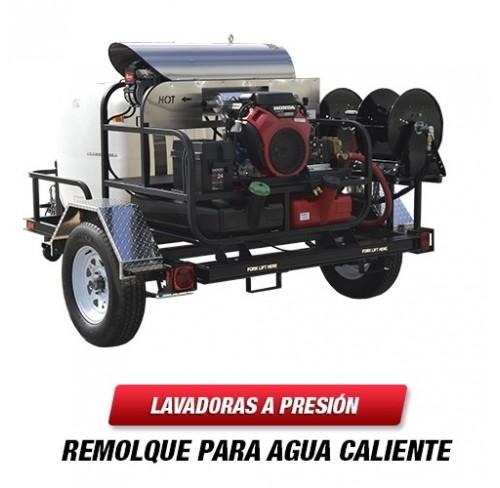 Lavadora a Presión con remolque para agua caliente de 8.0 GPM TR6115PRO-40HG