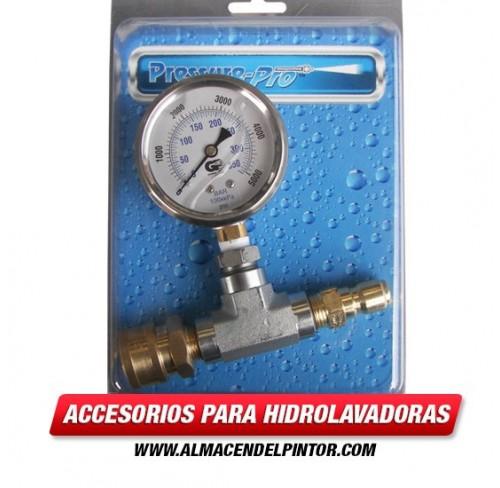 Manómetro para calibrar presión de 5000 PSI en Hidrolavadoras