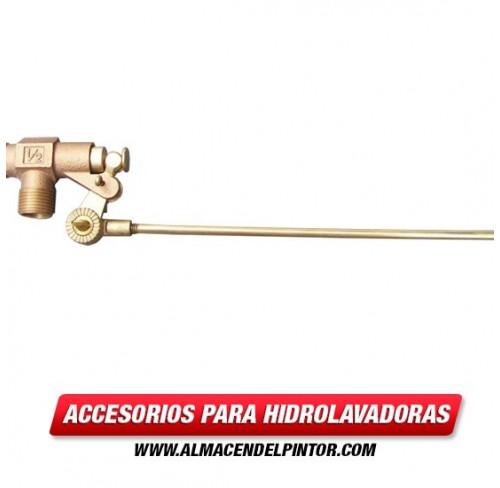 Válvula de flotador bronce 1/2 pulg MNPT con barra de 10 pulgadas
