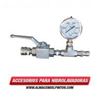 Manómetro de prueba de presión de 6000 PSI para hidrolavadoras